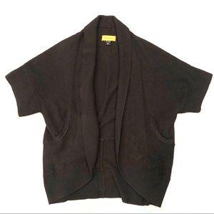 St. John Wool Dolman Short Sleeve Shrug